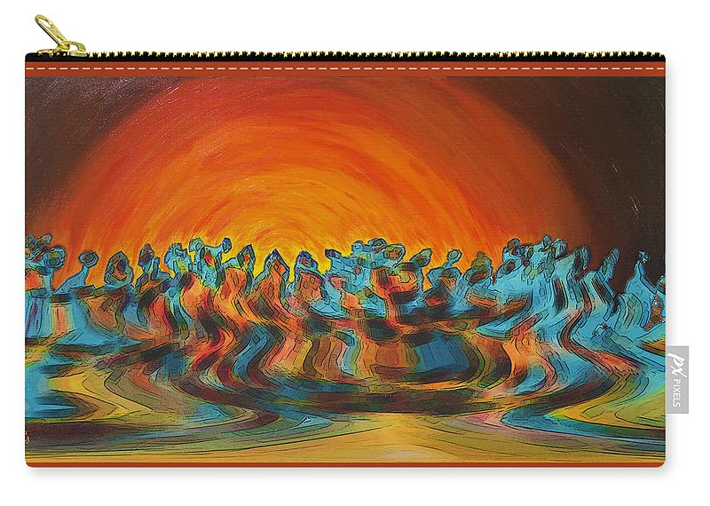 Figurative Abstract Carry-all Pouch featuring the digital art Sundance by Ben and Raisa Gertsberg
