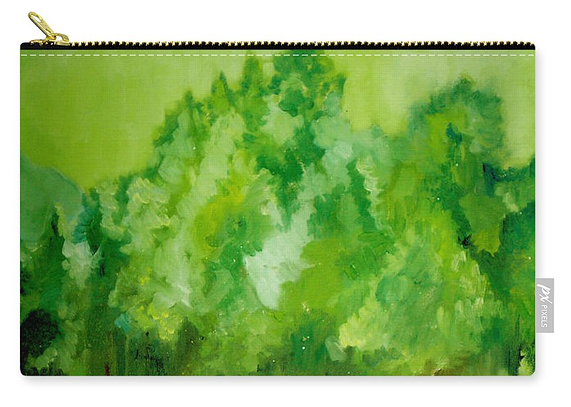 Spring Carry-all Pouch featuring the painting Sunday At Two Thirty by Seth Weaver