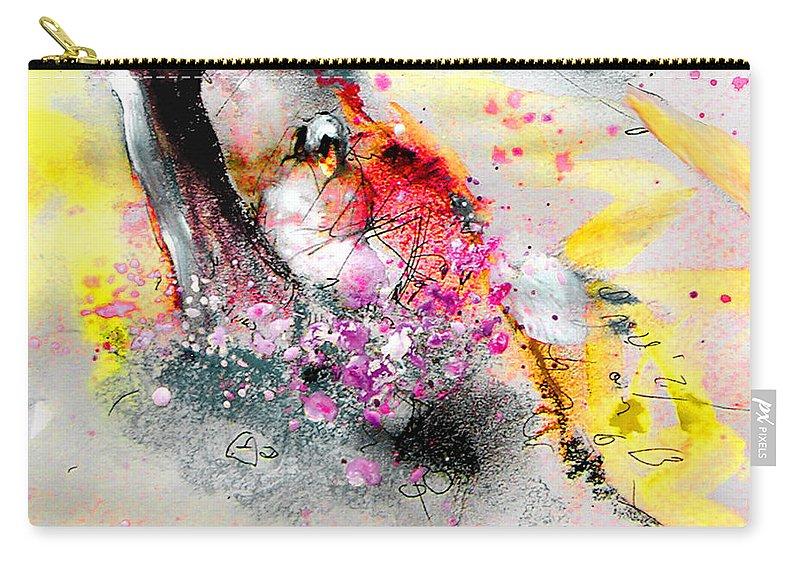 Pastel Painting Carry-all Pouch featuring the painting Sunday By The Tree by Miki De Goodaboom