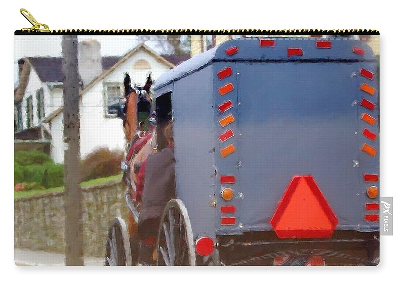 Amish Carry-all Pouch featuring the photograph Sunday Courting by Debbi Granruth
