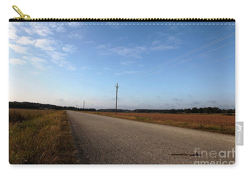 Roads Carry-all Pouch featuring the photograph Sunday Drive Series by Amanda Barcon