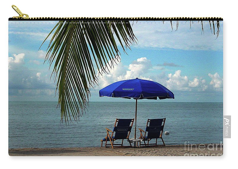 Beach Carry-all Pouch featuring the photograph Sunday Morning At The Beach In Key West by Susanne Van Hulst