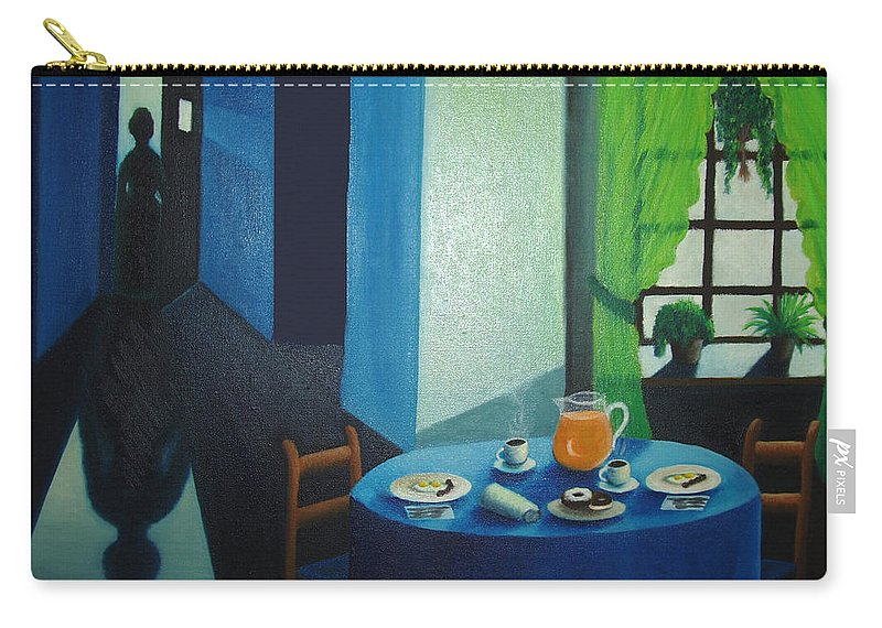 Breakfast Carry-all Pouch featuring the painting Sunday Morning Breakfast by Nancy Mueller