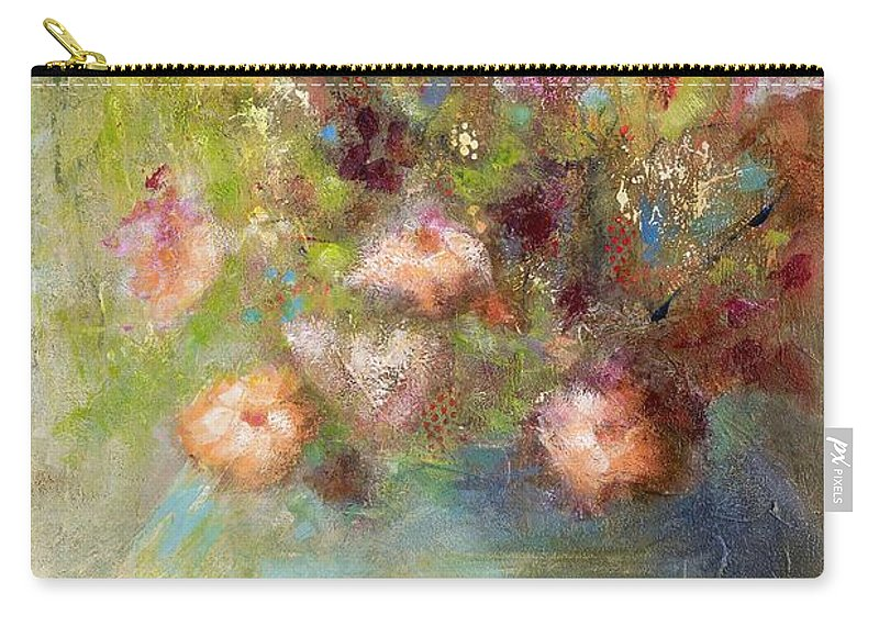 Abstract Art Carry-all Pouch featuring the painting Sunday Morning by Frances Marino