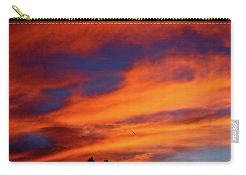 Sun Carry-all Pouch featuring the photograph Sunday Sunrise by Diana Hatcher