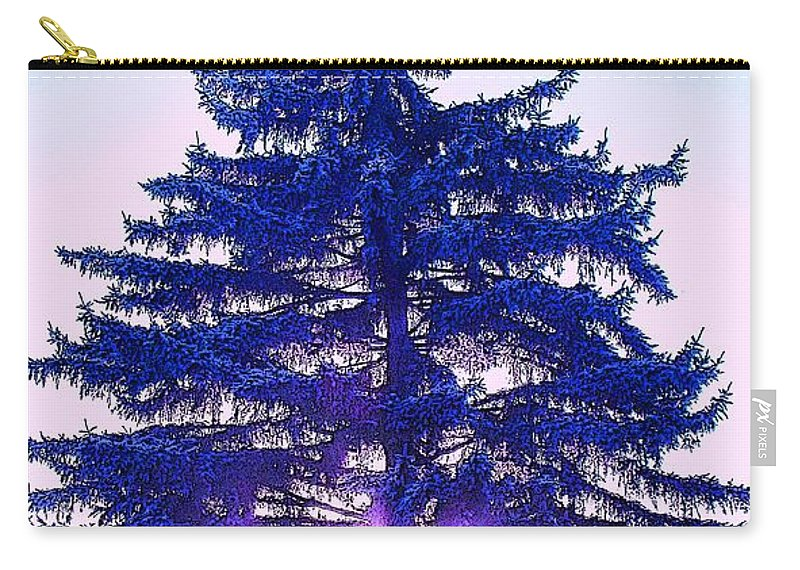 Fir Carry-all Pouch featuring the photograph Sundown In The Forest by Ian MacDonald