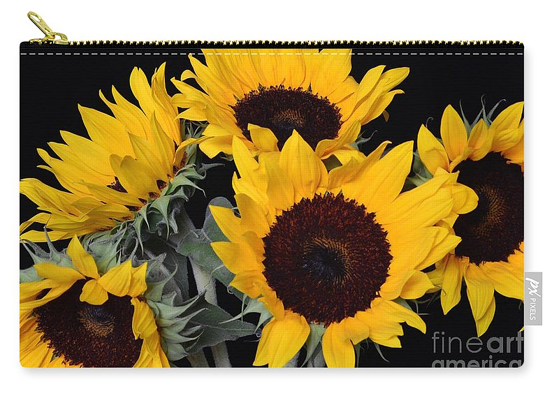 Bloom Carry-all Pouch featuring the photograph Sunflower Bouquet by Jeannie Rhode