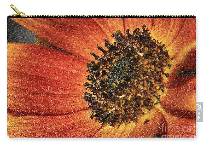 Flower Carry-all Pouch featuring the photograph Sunflower Dance by Deborah Benoit
