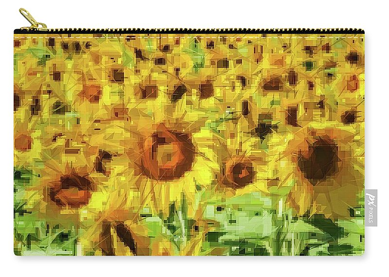 Alicegipsonphotographs Carry-all Pouch featuring the photograph Sunflower Edges by Alice Gipson