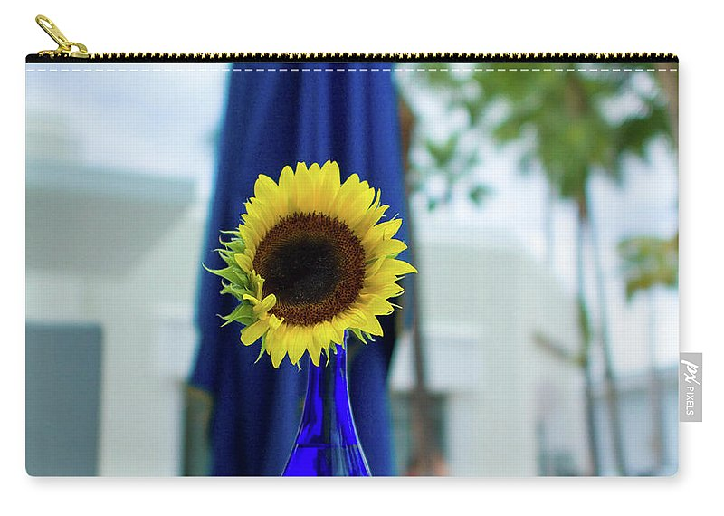 Flower Carry-all Pouch featuring the photograph Sunflower by Ferry Zievinger