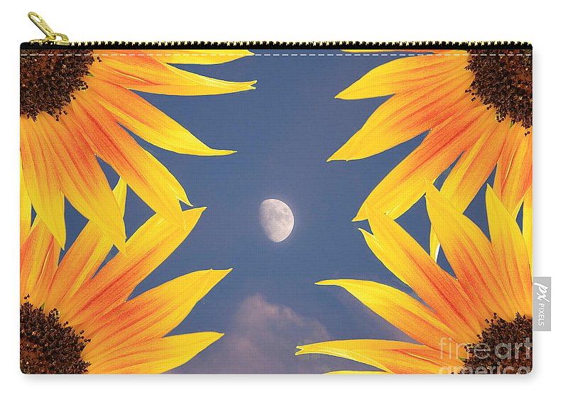 Sunflower Carry-all Pouch featuring the photograph Sunflower Moon by James BO Insogna