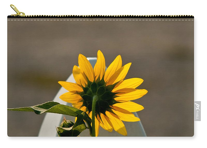 Sun Carry-all Pouch featuring the photograph Sunflower Morning by Douglas Barnett