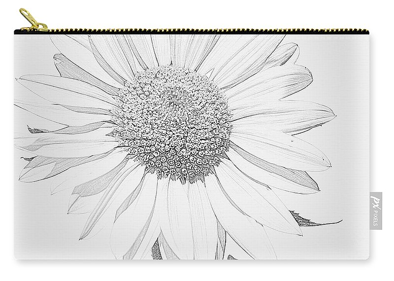 Sunflower P Carry-all Pouch featuring the digital art Sunflower P by Nhi Ho