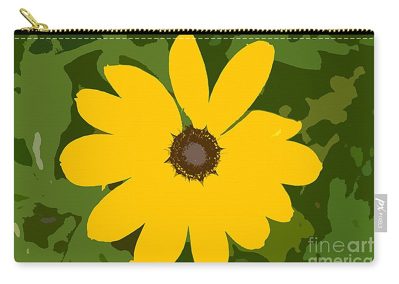 Sunflower Carry-all Pouch featuring the photograph Sunflower Work Number 3 by David Lee Thompson