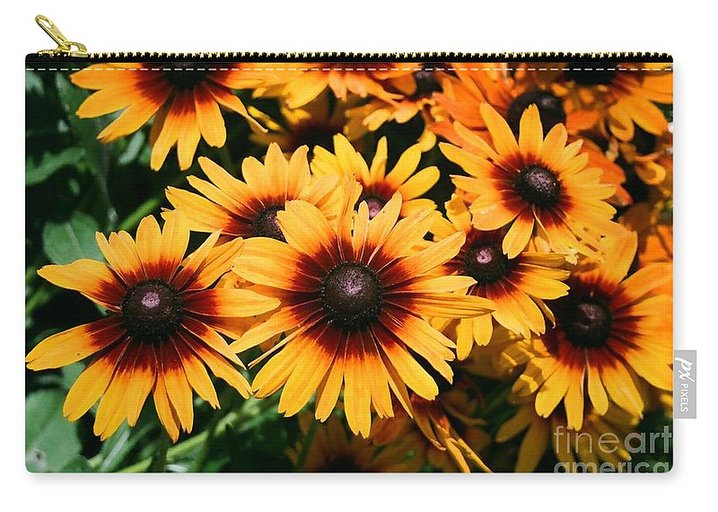 Sunflowers Carry-all Pouch featuring the photograph Sunflowers by Dean Triolo