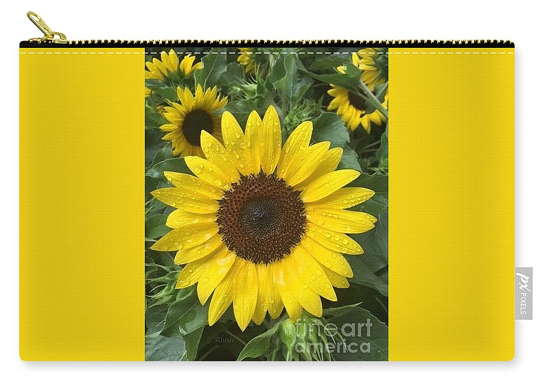 Carry-all Pouch featuring the photograph Sunflowers by Jeannie Rhode