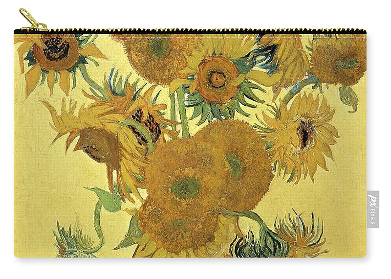 Sunflowers Carry-all Pouch featuring the painting Sunflowers, 1888 by Vincent Van Gogh