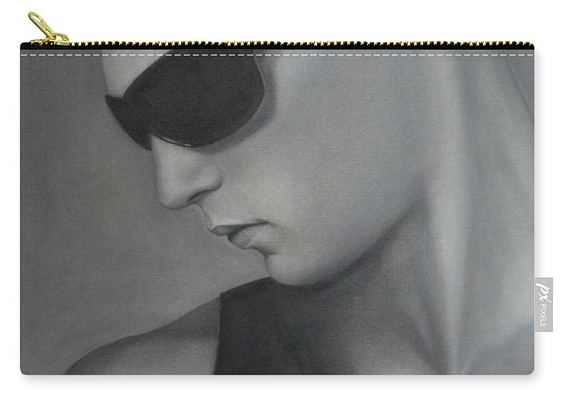 Man Carry-all Pouch featuring the painting Sunglasses by Lynet McDonald