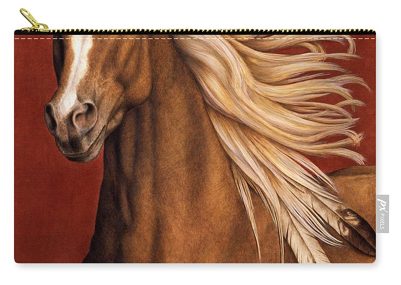Horse Carry-all Pouch featuring the painting Sunhorse by Pat Erickson