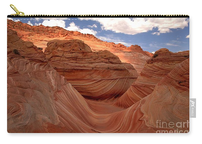The Wave Carry-all Pouch featuring the photograph Sunkiss At Coyote Buttes by Adam Jewell