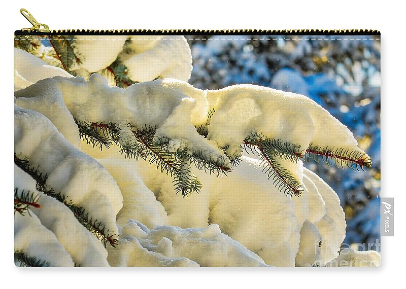 Nature Carry-all Pouch featuring the photograph Sunlight In Snow by James Stewart