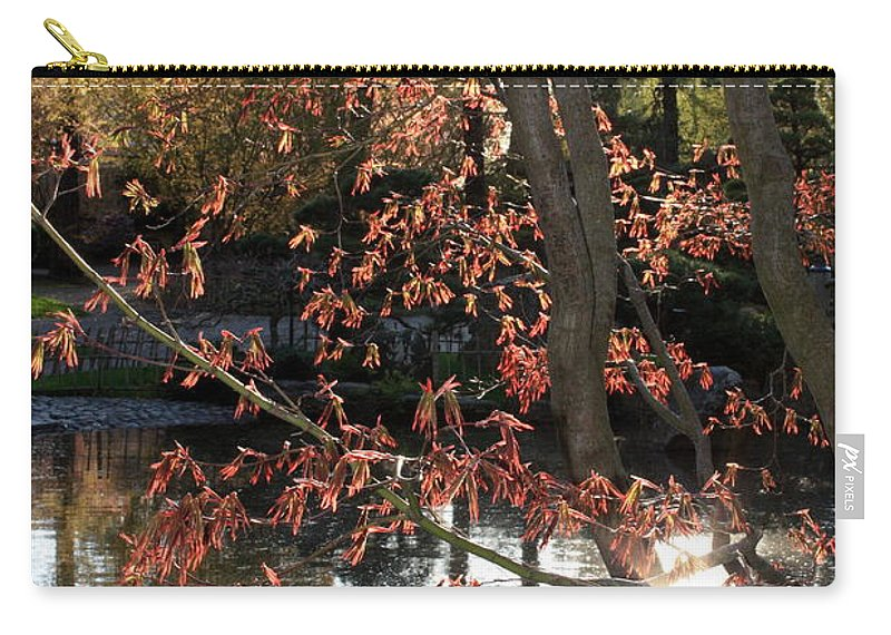 Maple Tree Carry-all Pouch featuring the photograph Sunlight Through Japanese Maple by Carol Groenen