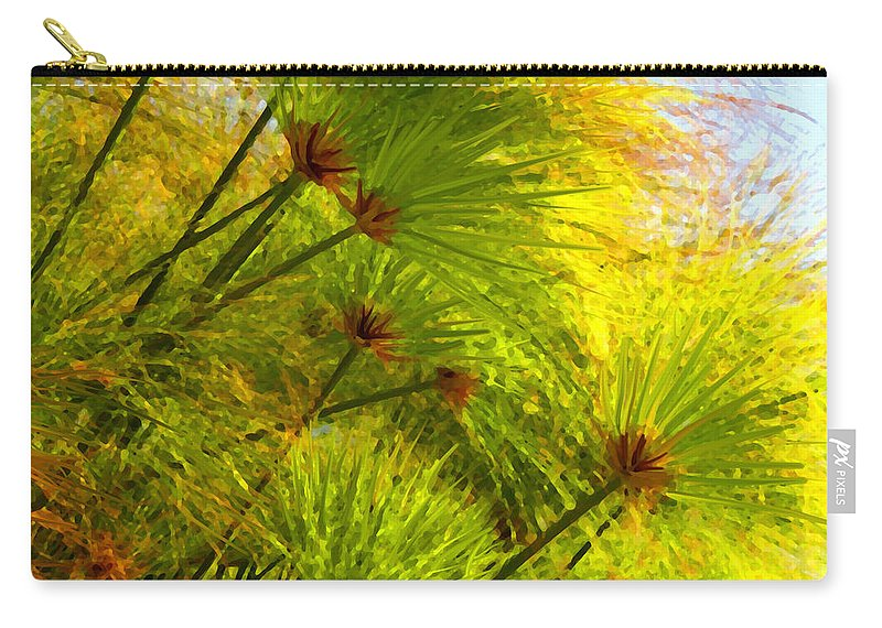 Landscape Carry-all Pouch featuring the painting Sunlit Paparus by Amy Vangsgard