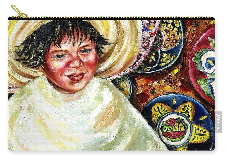Child Carry-all Pouch featuring the painting Sunny Day by Hiroko Sakai