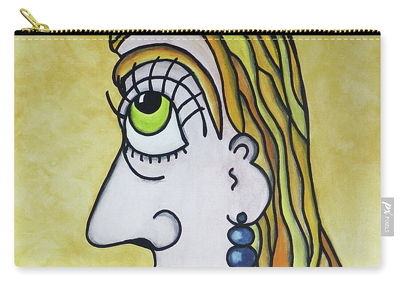 Sun Carry-all Pouch featuring the painting Sunny... - Ensoleille... by R Fafard