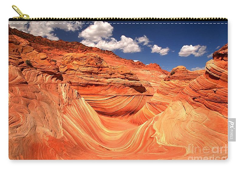 The Wave Carry-all Pouch featuring the photograph Sunny Northern Arizona Landscape by Adam Jewell