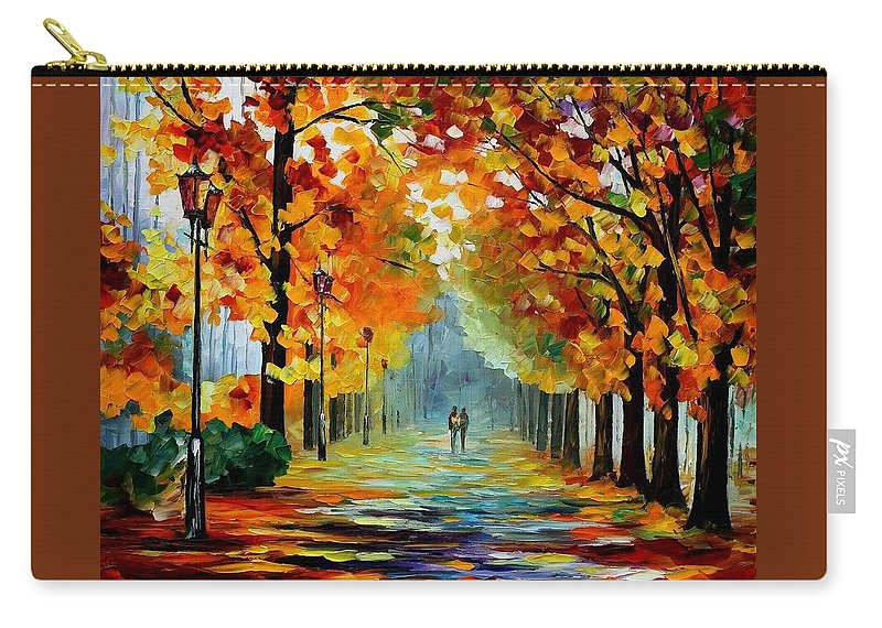 Afremov Carry-all Pouch featuring the painting Sunny October by Leonid Afremov