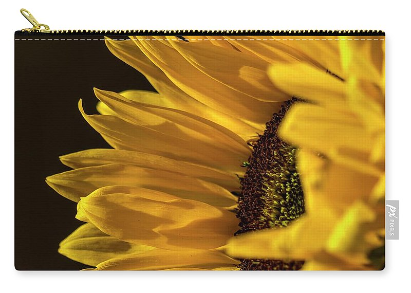 Sunflower Carry-all Pouch featuring the photograph Sunny Too By Mike-hope by Michael Hope