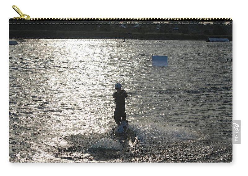 Sun Carry-all Pouch featuring the photograph Sunny Waves by Rob Hans