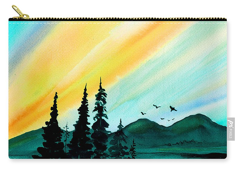 Landscape Carry-all Pouch featuring the painting Sunrays by Brenda Owen