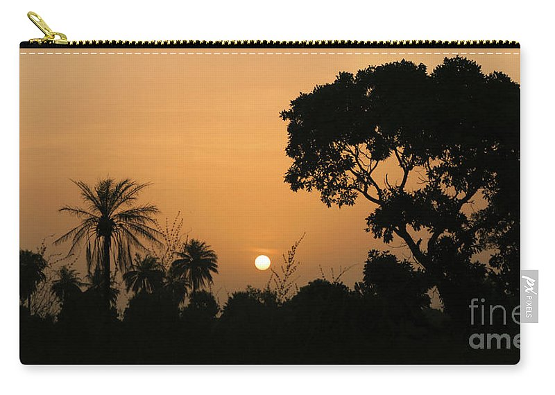 Sunrise Carry-all Pouch featuring the photograph Sunrise And Silhouettes by Jane McGowan