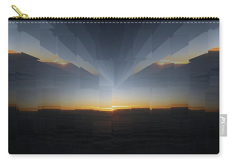 Sunrise Carry-all Pouch featuring the photograph Sunrise At 30k 10 by Tim Allen