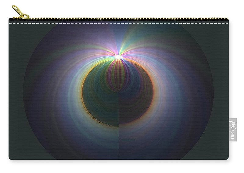 Sunrise Carry-all Pouch featuring the digital art Sunrise At 30k 2 by Tim Allen