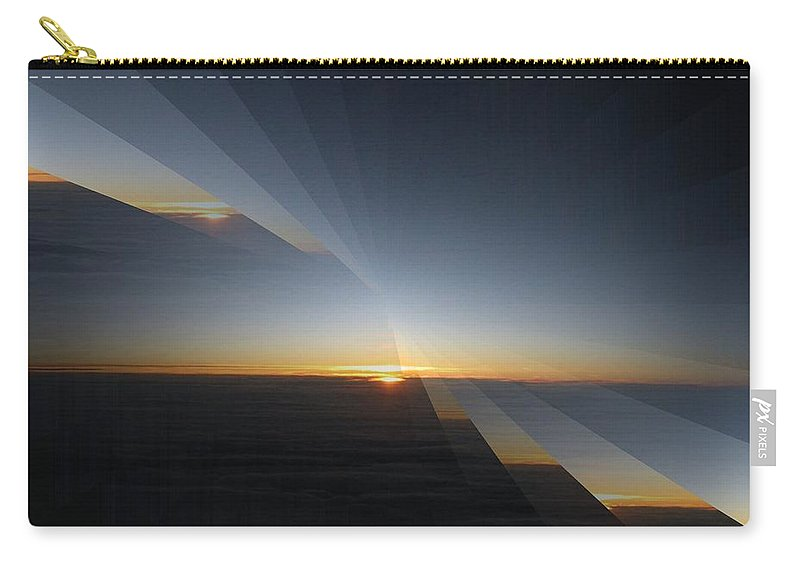 Sunrise Carry-all Pouch featuring the photograph Sunrise At 30k 4 by Tim Allen