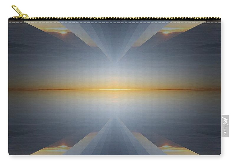 Sunrise Carry-all Pouch featuring the digital art Sunrise At 30k 5 by Tim Allen