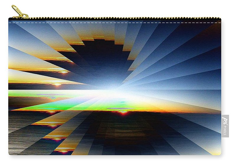 Sunrise Carry-all Pouch featuring the photograph Sunrise At 30k 6 by Tim Allen