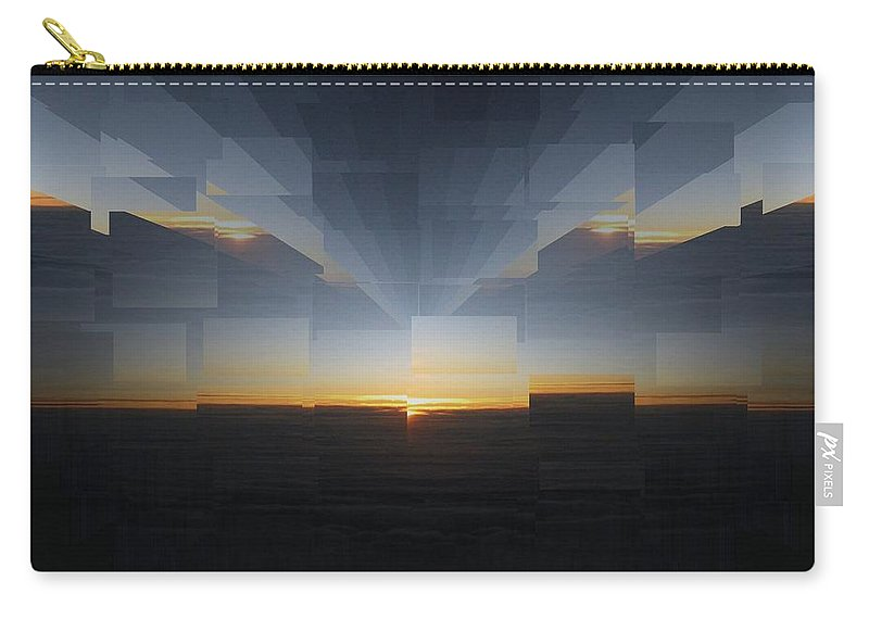 Sunrise Carry-all Pouch featuring the photograph Sunrise At 30k 8 by Tim Allen