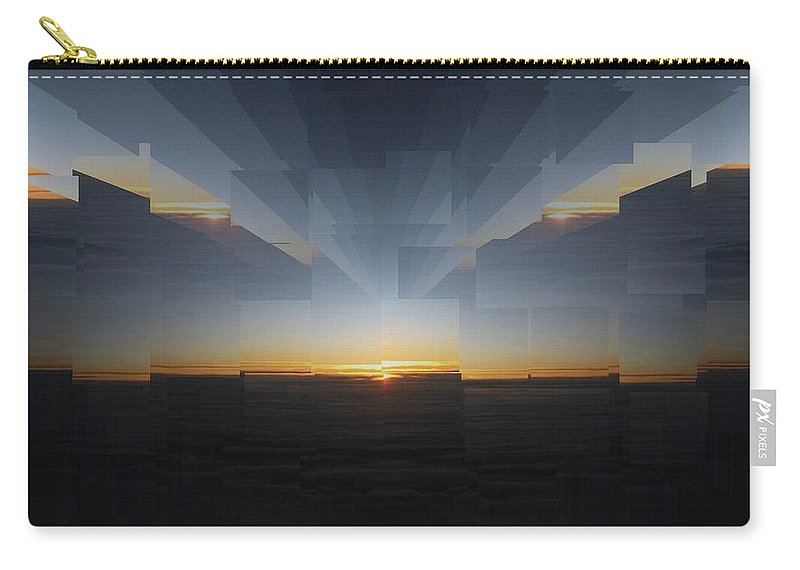 Sunrise Carry-all Pouch featuring the photograph Sunrise At 30k 9 by Tim Allen