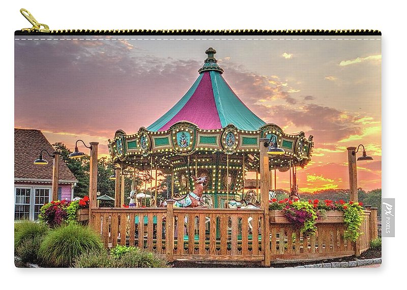 Recent Carry-all Pouch featuring the photograph Sunrise At Historic Smithville Inn New Jersey by Geraldine Scull