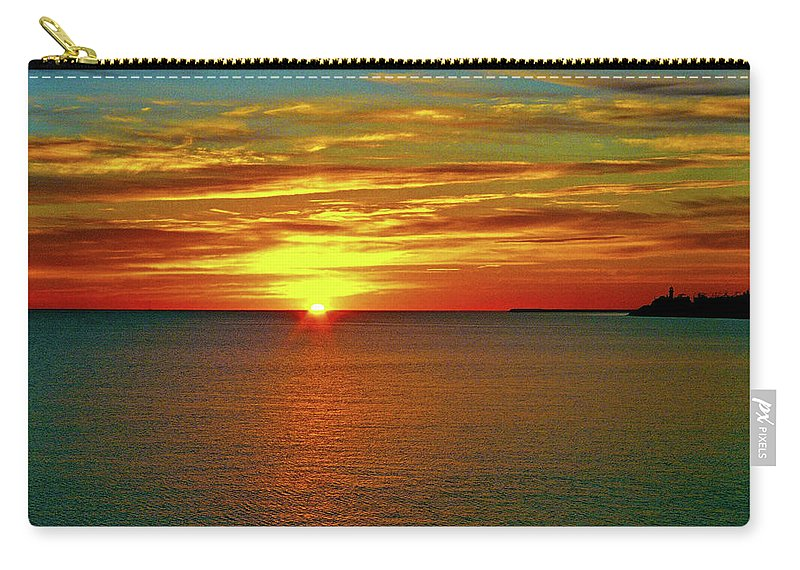 North America Carry-all Pouch featuring the photograph Sunrise At Matane by Juergen Weiss