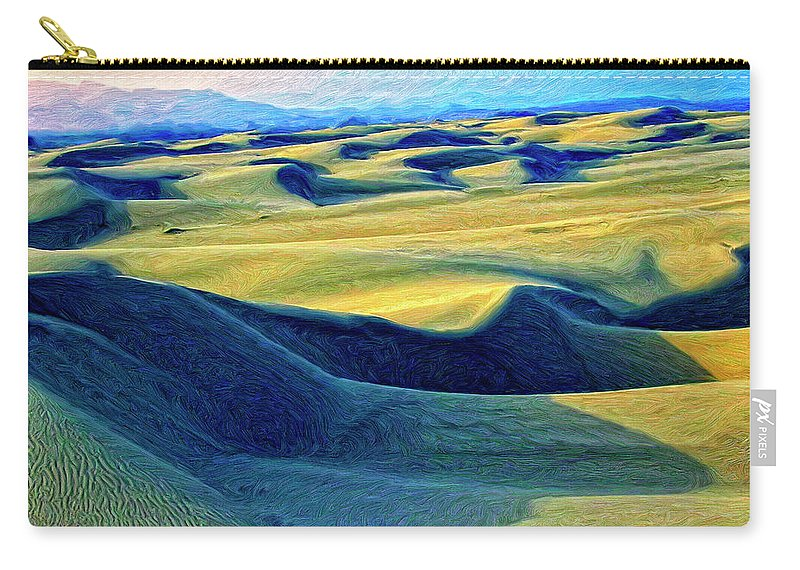 Sunrise At Oceano Sand Dunes Carry-all Pouch featuring the painting Sunrise At Oceano Sand Dunes by Dominic Piperata
