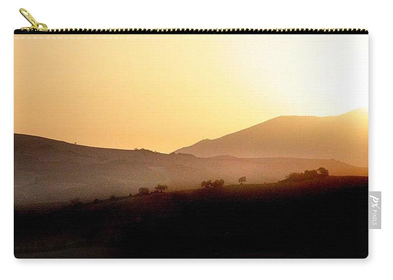 Landscape Carry-all Pouch featuring the photograph Sunrise At Pastelero Near Villanueva De La Concepcion Malaga Region Spain by Mal Bray