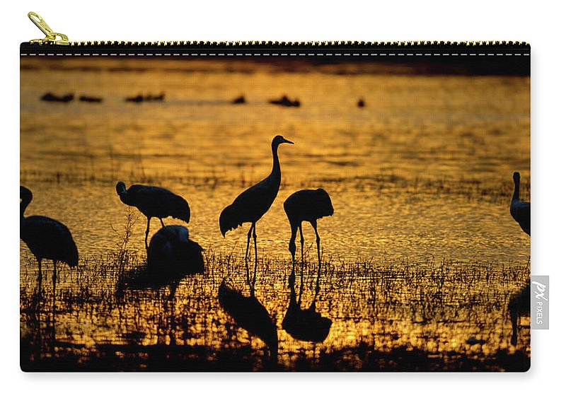Early Carry-all Pouch featuring the photograph Sunrise At The Crane Pools by Gary Langley