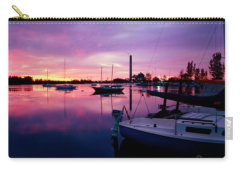 Sunrise Carry-all Pouch featuring the photograph Sunrise Bc Cobb Plant by Frederic A Reinecke