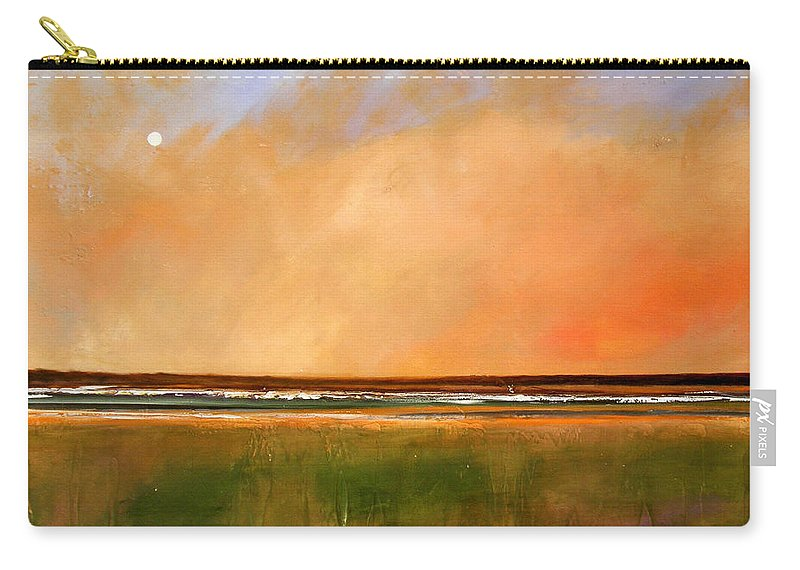 Sunrise Carry-all Pouch featuring the painting Sunrise Beach by Toni Grote