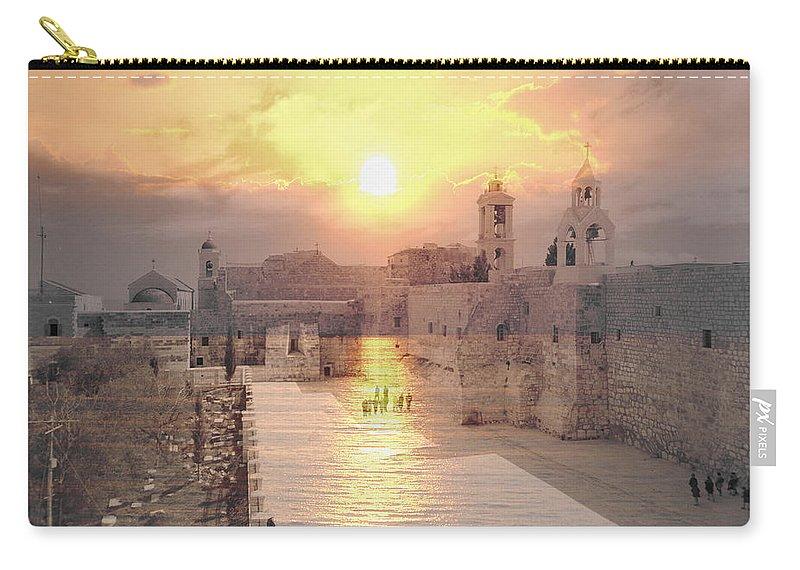 Bethlehem Carry-all Pouch featuring the photograph Sunrise Bethlehem by Munir Alawi